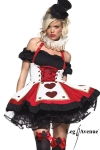 Costume Pretty playing Card - Fin de série : uniquement disponible en XS. Un costume de charme pour joueuse de cartes avertie !